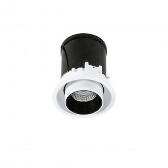 ITALUX SL74058/12W 4000K WH+BL | Merge Italux zabudovateľné svietidlo otočné prvky Ø102mm 1x LED 840lm 4000K čierna, biela