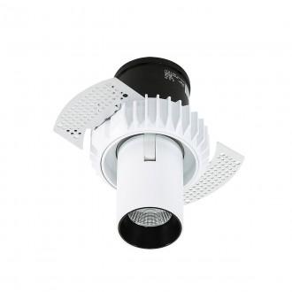 ITALUX SL74066/12W 3000K WH+BL | Gemma-Trimless Italux zabudovateľné svietidlo otočné prvky Ø60mm 60x60mm 1x LED 840lm 3000K čierna, biela