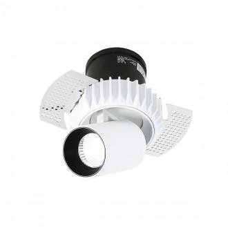 ITALUX SL74066/12W 4000K WH+BL | Gemma-Trimless Italux zabudovateľné svietidlo otočné prvky Ø60mm 60x60mm 1x LED 840lm 4000K čierna, biela