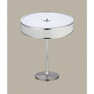 JUPITER 1225 JA G B | Jazz Jupiter stolové svietidlo 47cm prepínač na vedení 2x E14 biela, chróm