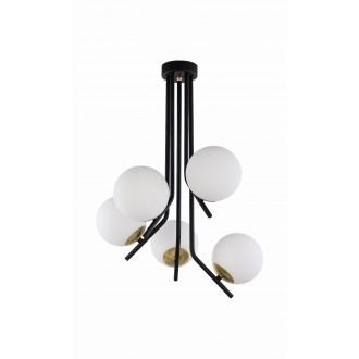 JUPITER 1733 TI 5 CZ/MS | Tim Jupiter stropné svietidlo 5x E14 mosadz, čierna, biela