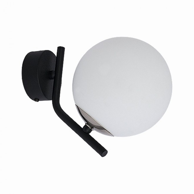 JUPITER 1738 TI K CZ/NI | Tim Jupiter rameno stenové svietidlo 1x E14 nikel, čierna, biela