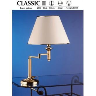 JUPITER 206 CLL | ClassicJ Jupiter stolové svietidlo 56cm prepínač na vedení otočné prvky 1x E27 saténová meď, ecru