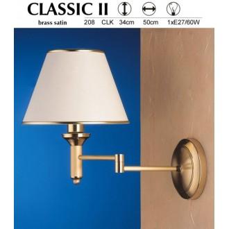 JUPITER 208 CLK | ClassicJ Jupiter rameno stenové svietidlo otočné prvky 1x E27 saténová meď, ecru