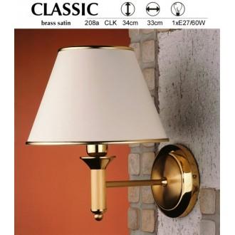 JUPITER 208A CLK | ClassicJ Jupiter rameno stenové svietidlo 1x E27 saténová meď, ecru