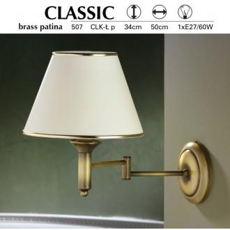 JUPITER 507 P.CLK L | ClassicJ Jupiter rameno stenové svietidlo otočné prvky 1x E27 patinovaná meď, krémové