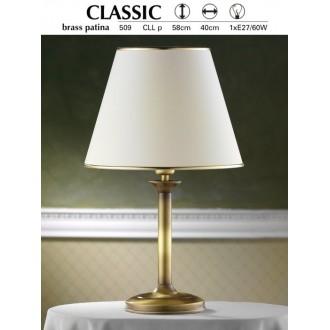 JUPITER 509 P.CLL | ClassicJ Jupiter stolové svietidlo 53cm prepínač na vedení 1x E27 patinovaná meď, krémové