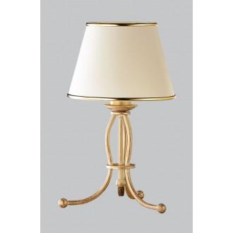 JUPITER 517 LA-L-E | LauraJ Jupiter stolové svietidlo 38cm prepínač na vedení 1x E27 zlatý, ecru