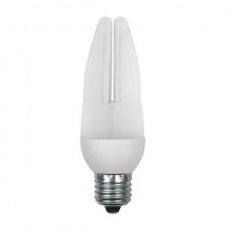 KANLUX 12843 | E27 9W -> 44W Kanlux sviečka C37 kompaktná žiarivka CDL 420lm 2700K