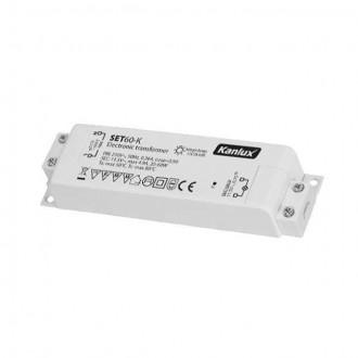 KANLUX 1425 | Kanlux elektronický transformátor 60W 11,5V~4,9A obdĺžnik tepelná poistka biela