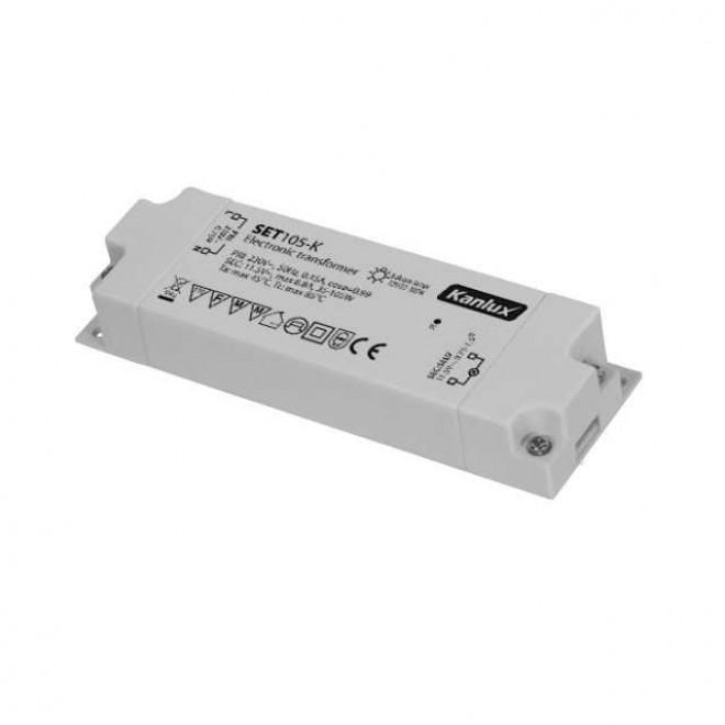 KANLUX 1426   Kanlux elektronický transformátor 105W 11,5V~8,8A obdĺžnik tepelná poistka biela