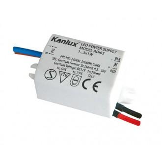 KANLUX 1440 | Kanlux LED napájací zdroj 350mA DC 1-3x 1W 0,5-10V obdĺžnik tepelná poistka biela
