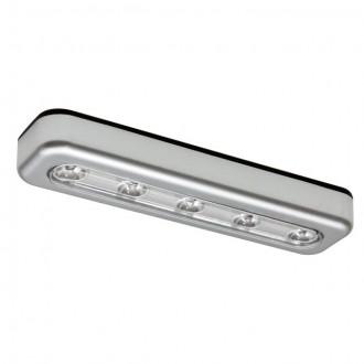 KANLUX 14810 | Alexa_KA Kanlux osvetlenie nábytku svietidlo obdĺžnik batérie/akumulátorové 1x LED 15lm 6500K strieborný