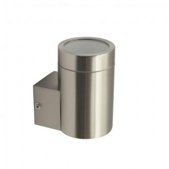 KANLUX 18010 | Magra Kanlux stenové svietidlo hriadeľ 1x GU10 IP44 zušľachtená oceľ, nehrdzavejúca oceľ