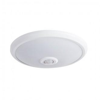 KANLUX 18121 | Fogler Kanlux stenové, stropné svietidlo kruhový pohybový senzor 1x LED 800lm 4000K biela