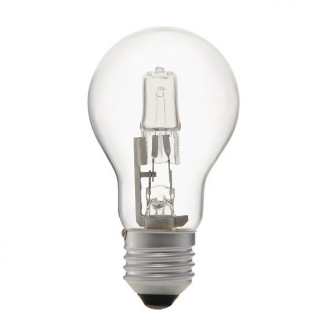 KANLUX 18450 | E27 28W -> 37W Kanlux normálne A55 žiarovka halogénová Ecohalo 370lm 2700K