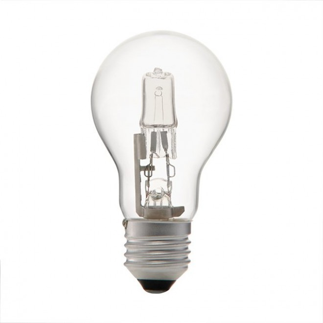 KANLUX 18454 | E27 100W -> 130W Kanlux normálne A55 žiarovka halogénová Ecohalo 1800lm 2700K