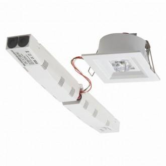 KANLUX 18650 | Tric-Powerled-PT Kanlux núdzové osvetlenie svietidlo zabudovateľné 1x LED 200lm 6000-8000K IP41 biela