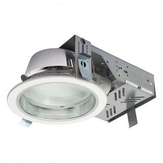KANLUX 18670 | Perfo Kanlux zabudovateľné - zapustené svietidlo kruhový Ø195mm 2x G24q-2 / T2U/4P IP44 biela