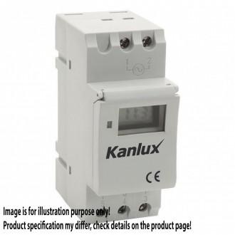 KANLUX 18721 | Kanlux časový spínač DIN35 modul s astronomickou funkciou biela