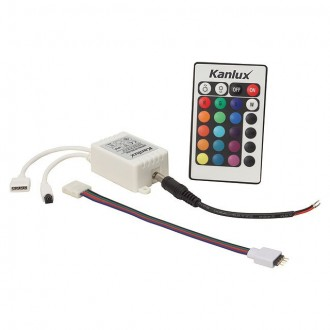 KANLUX 18960 | Kanlux ovládač RGB LED IR obdĺžnik biela
