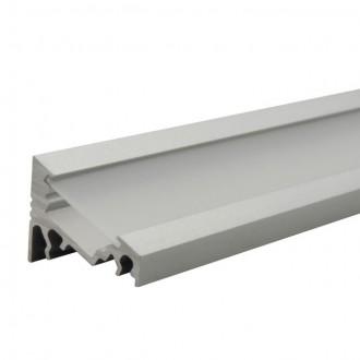 KANLUX 19162 | Kanlux hliníkový led profil C - bez tienidla - 1m pre LED pásiky max. 10 mm hliník