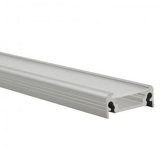 KANLUX 19163 | Kanlux hliníkový led profil D - bez tienidla - 1m pre LED pásiky max. 10 mm hliník