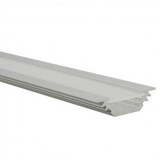 KANLUX 19164 | Kanlux hliníkový led profil E - bez tienidla - 1m pre LED pásiky max. 10 mm hliník
