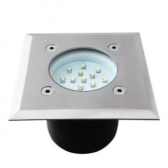 KANLUX 22051 | Gordo Kanlux zabudovateľné svietidlo štvorec 100x100mm 1x LED 6200 - 6800K IP66 IK10 zušľachtená oceľ, nehrdzavejúca oceľ, priesvitné
