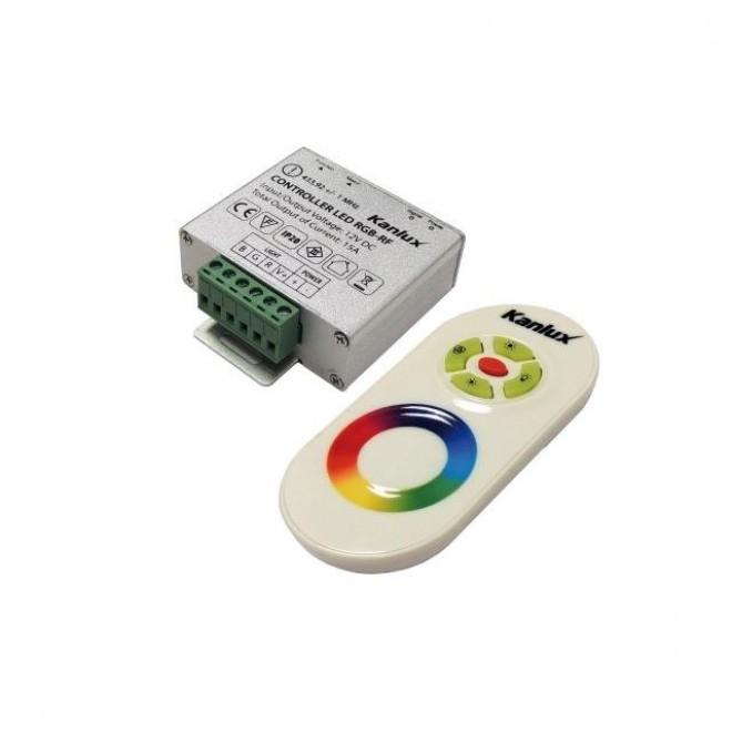 KANLUX 22140 | Kanlux ovládač RGB LED RF obdĺžnik strieborný, biela