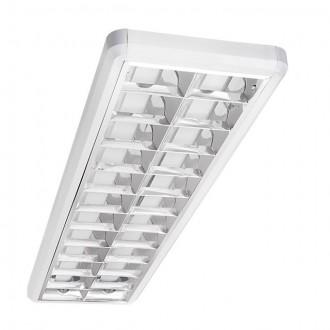 KANLUX 22290 | Notus-Premium Kanlux stropné armatúra obdĺžnik 2x G13 / T8 biela