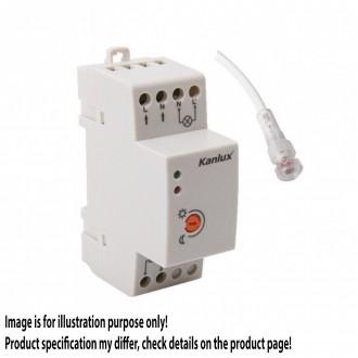 KANLUX 22370 | Kanlux svetelný senzor - súmrakový spínač DIN35 modul IP65/20 biela