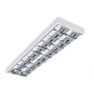 KANLUX 22672 | Notus-4LED Kanlux stropné, visiace armatúra obdĺžnik určené pre T8 LED zdroje 2x G13 / T8 LED biela