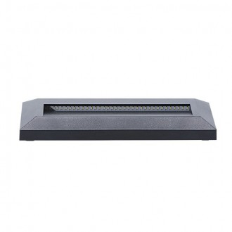 KANLUX 22760 | Onstar-Croto Kanlux stenové svietidlo obdĺžnik 1x LED 60lm 6500K IP65 IK09 sivé