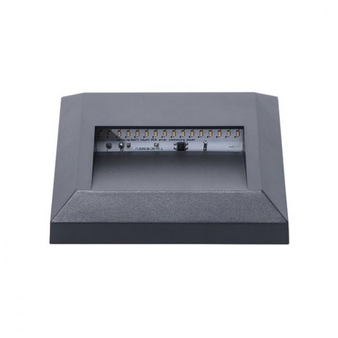 KANLUX 22770 | Onstar-Croto Kanlux stenové svietidlo štvorec 1x LED 30lm 6500K IP65 IK09 sivé