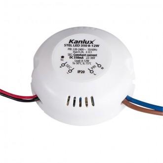 KANLUX 23070 | Kanlux LED napájací zdroj 350mA DC 8-12W 22-36V kruhový biela