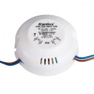 KANLUX 23071 | Kanlux LED napájací zdroj 700mA DC 6-12W 9-17,5V kruhový biela