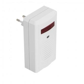 KANLUX 23081 | Kanlux bezdrôtový zvonček 80 m obdĺžnik biela