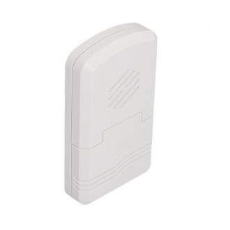 KANLUX 23082 | Kanlux bezdrôtový zvonček 80 m obdĺžnik batérie/akumulátorové biela
