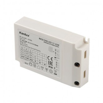KANLUX 23090 | Kanlux LED napájací zdroj DIM. 200/250/300/350mA DC 17-25W 48V-72V obdĺžnik regulovateľný biela