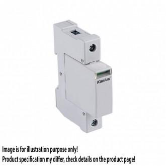 KANLUX 23130 | Kanlux modul na odmedzenie vysokého napätia DIN35 modul, T2/C, 40kA - 1P svetlo šedá