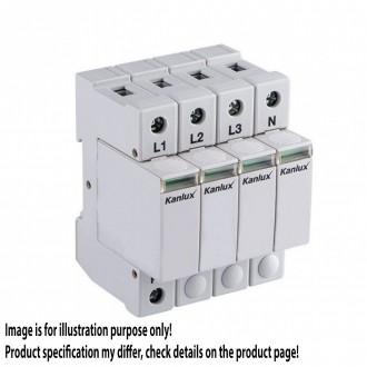 KANLUX 23133 | Kanlux modul na odmedzenie vysokého napätia DIN35 modul, T2/C, 160kA - 4P svetlo šedá