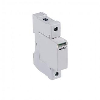 KANLUX 23134 | Kanlux modul na odmedzenie vysokého napätia DIN35 modul, T1+T2/B+C, 50kA - 1P svetlo šedá