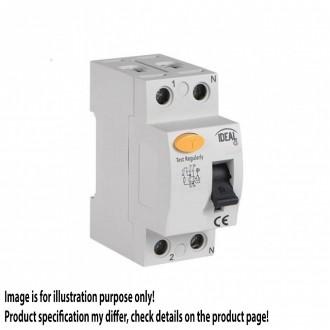 KANLUX 23182   Kanlux prúdový chránič (FI relé) 63A DIN35 modul, 2P svetlo šedá, čierna, žltá
