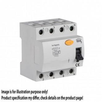 KANLUX 23184 | Kanlux prúdový chránič (FI relé) 40A DIN35 modul, 4P svetlo šedá, čierna, žltá