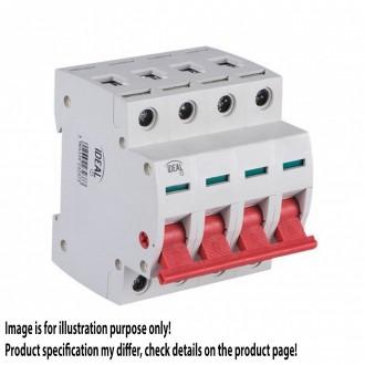 KANLUX 23237 | Kanlux hlavný vypínač DIN35 modul, 4 - 100A svetlo šedá, červená