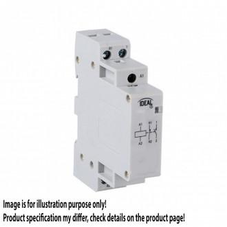 KANLUX 23240 | Kanlux stýkač DIN35 modul - 1, 20A/7A - 20 svetlo šedá