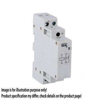 KANLUX 23244 | Kanlux stýkač DIN35 modul - 1, 20A/7A - 11 svetlo šedá