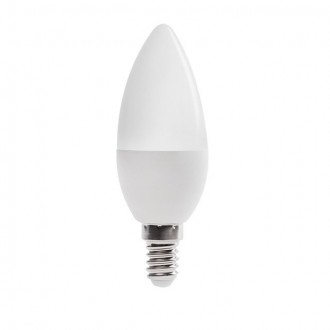 KANLUX 23430 | E14 6,5W -> 48W Kanlux sviečka C37 LED svetelný zdroj SMD 600lm 3000K 210°