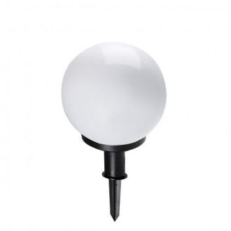 KANLUX 23510 | Idava Kanlux zapichovacie svietidlo guľa zástrčka - bez spínača otočné prvky 1x E27 IP44 čierna, biela